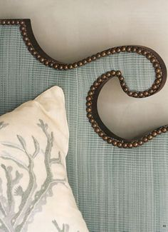 headboard details! (and the pillow)