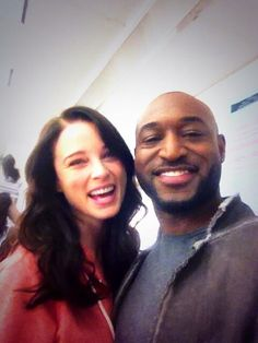 Rachel Nichols (Kiera) and Adrian Holmes (Warren) of Continuum on the last day of filming for Season 3 - April 11, 2014 (via @ao Holmes on Twitter)