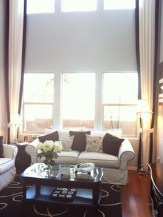 Model Home Curtains long curtains with two different fabrics # pin++ for pinterest