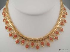 Simple Light Weight Coral sets | Latest Indian Jewellery Designs