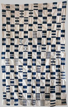 Africa | Womens wrapper Indigo. Cotton Strip weave Ewe people Ghana | mid 20th century