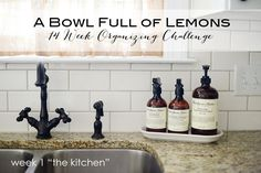 A Bowl Full of Lemons 14 Week Organizing Challenge - Week 1 The Kitchen  http://www.abowlfulloflemons.net/2015/01/14-week-organizing-challenge-week-1-the-kitchen.html  #organize #organizingchallenge #newyearchallenge #organizing