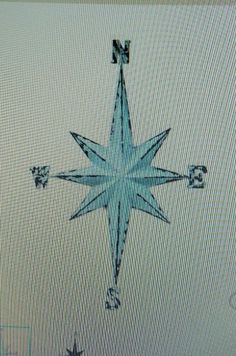 Blue Vintage Directional Wall Star Nautical Office Home Decor Woman Man Cave  #Nautical