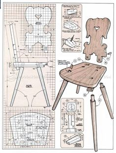 #231 Moravian Chair Plans - Furniture Plans