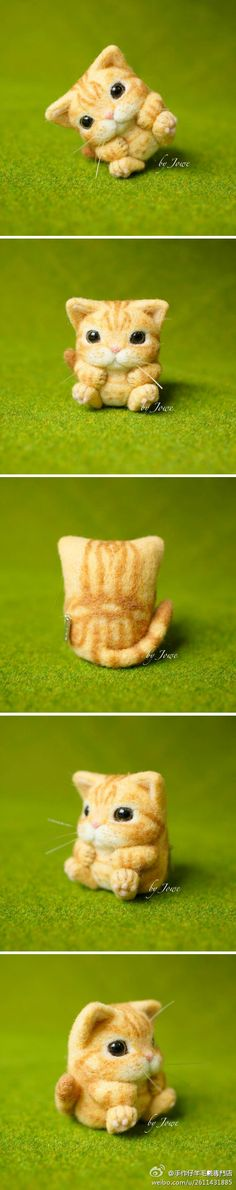 羊毛毡猫咪来自M-Y-SecondRound的图片分享-堆糖;