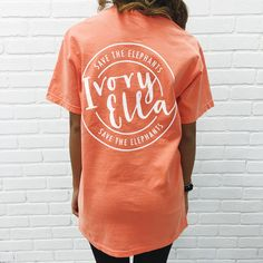 LIMITED EDITION ITEM Support the Save The Elephants organization in style in our limited editionSave The Elephants Print Tees...Cute, casual, and perfect for