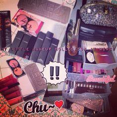 "#makeupaddict beginner just received my #naked3 palette #vice2 #mac #morphebrushes #nars #clinique #nyx #bobbibrown #benifit #sephora #tartcosmetics #tooface #maybellinebabylips #shiseido #elf #bareminerals #smashbox brushes, blushes, lipgloss, lipstick, eyeshadow, powder, concealer, mascara, eyeliner, glider, sparkles, illuminator, bronzer, lens. Have all in my makeup box! #fashionista ""I'm very definitely a woman and I enjoy it.""  Marilyn Monroe"