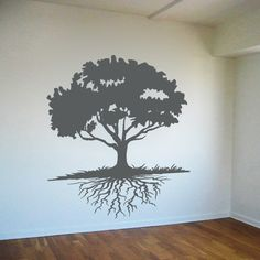 Floating Tree with Roots - Tree Wall Decals - Wall Decals Stickers