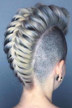 Striking Party Hairstyles for Short Hair - hair Pixie Undercut, Undercut Hairstyles Women, Braided Hairstyles, Short Hair Styles Easy, Short Hair Cuts, Edgy Short Haircuts, Party Hairstyles, Cool Hairstyles, Hairstyles 2018