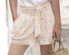 Is it weird that I actually want a pair of white lace shorts? Adds a girly touch to an edgier outfit. :)
