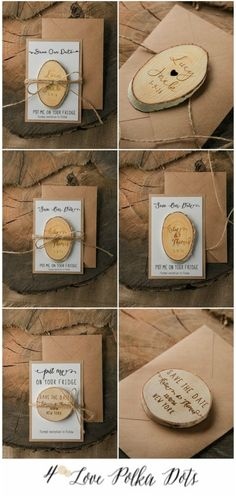 Wooden Save the Date magnets #wedding #weddingideas #savethedate #wood #rustic #eco #country #farm