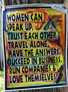 WOMEN AFFIRMATION Inspirational Print 11x14 FEMINIST Poster Success Words Motivational Sayings Heartful Art by Raphaella Vaisseau on Etsy, $18.00