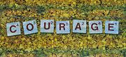 """New artwork for sale! - """" Courage Valor Cutting Word Letters  by PixBreak Art """" - http://ift.tt/2mda5wz"""