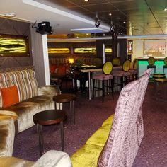 Piano Bar and Martini Bar on the Holland America Veendam cruise ship