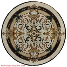 Medallions Plus provides specialty stone products like floor medallions made of marble, travertine, tile and more. Marble Mosaic, Marble Floor, Stone Cladding, Floor Patterns, Stone Flooring, Floor Design, Marquetry, Granite, Floors
