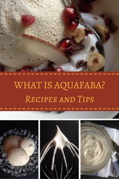 Aquafaba: The Magic Ingredient You've Been Throwing Away These recipes are a great way to use up aquafaba, the liquid reserved from cooked or drained canned chickpeas. It is the perfect vegan alternative to many egg based recipes. Sem Lactose, Lactose Free, Vegan Gluten Free, Dairy Free, Paleo, Grain Free, Kosher Recipes, Cooking Recipes, Aquafaba Recipes