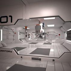 3D MODEL: https://www.turbosquid.com/3d-models/3d-futuristic-interior-scene/826447?referral=cermaka