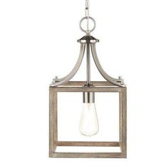 Boswell Quarter Collection 1 Light Brushed Nickel Mini Pendant