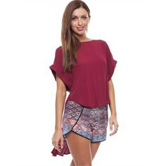 Bebe Sydney Verona Tee Tops Available in Capulet - Fashion Brand Sale