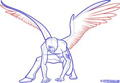 how to draw anime wings, draw an anime angel step 15