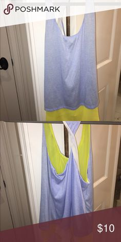 Multicolored tank Stretches / very lightly worn / twisted back Tops Tank Tops