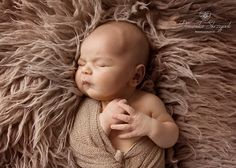 Newborn baby boy in the brown