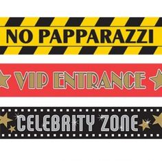 Hollywood party tape - great for marking off areas or directing traffic in a fun thematic way!