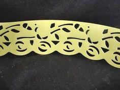 Roll Vintage Shelf Liner Edging Trim Yellow Floral Plastic Unused | eBay