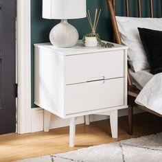 White Nightstand, Wood Nightstand, Nightstands, Bedroom Furniture For Sale, Bedroom Night Stands, New Room, Modern Bedroom, Decoration, Studios