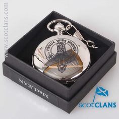 MacLean Clan Crest Pocket Watch. Free worldwide shipping available