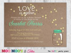 Printable FIREFLY GLOW Engagement Party or Bridal by moomootutu, $12.50
