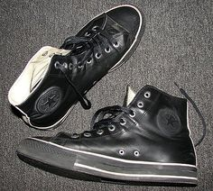7f6cff16ce1e Converse Chuck Taylor All-Star by John Varvatos in Black Leather. Worn by  Slash