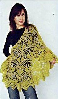Patrón #1224: Poncho a Crochet | CTejidas [Crochet y Dos Agujas]