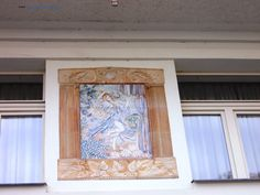 Art works on the building