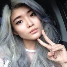 This foxy lady's silvery locks were made possible with a blend of Blue Steel! #upyourcolourgame #bluesteel
