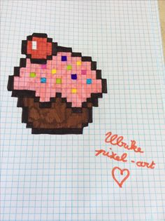 Pixel-art cupcake