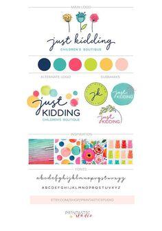 Baby Logo Branding Colour 33 New Ideas Logo Branding, Branding Your Business, Kids Branding, Business Card Design, Colorful Branding, Corporate Branding, Business Ideas, Business Cards, Corporate Design
