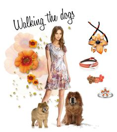 """""""Walking the dogs"""" by lyriel-moonshadow ❤ liked on Polyvore featuring Komarov, LULUS, McQ by Alexander McQueen and Louis Vuitton"""