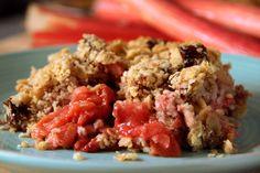 Croustillant sans gluten fraises et rhubarbe 2