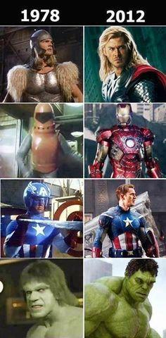 Evolução Marvel através do tempo!!!