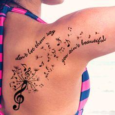 Dandelion tattoo design placement