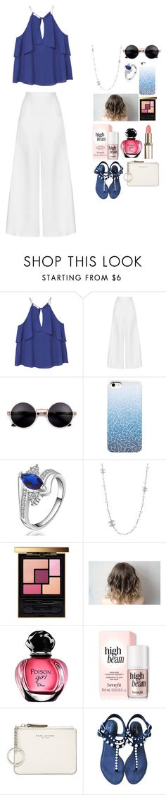 """Untitled #302"" by the-love-star786 ❤ liked on Polyvore featuring MANGO, Miguelina, Chanel, Yves Saint Laurent, Marc Jacobs, white and royal"