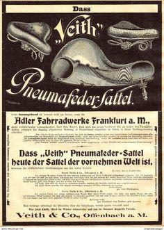 Werbung - Original-Werbung/ Anzeige 1900 - 1/1 Seite: VEITH PNAUMAFEDER - FAHRRAD-SATTEL - OFFENBACH - ca.180 x 250 mm