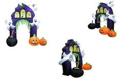Halloween Inflatable Pumpkins Ghosts Castle Archway 9 Ft Tall Outdoor Yard Decor #HalloweenInflatablePumpkinsGhostsCastleArchway #Halloween Inflatable Pumpkin, Halloween Inflatables, Ghosts, Pumpkins, Castle, Yard, Outdoor, Decor, Yard Decorations