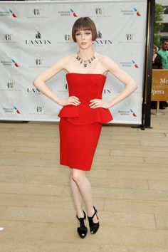 Coco Rocha beautiful in Lanvin at the ABT Gala 2014.