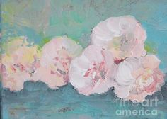 Pale Pink Peonies Greeting Card by Robin Maria Pedrero