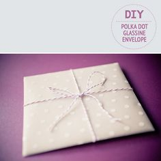 DIY: How to craft a glassine envelope ~ featured on Florence Finds on http://www.pocketfulofdreams.co.uk