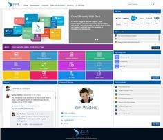Dock is your next-generation intranet portal built from the ground up with Office Sharepoint Design, Sharepoint Intranet, Intranet Design, Best Ui Design, Web Design, Email Design, Intranet Portal, Supply Chain Management, Business Analyst