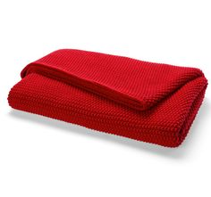 Aura Moss Stitch 130x180cm Throw Scarlet