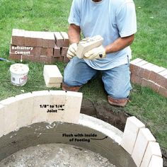 How to Build a DIY Fire Pit — The Family Handyman Fire Pit Base, Easy Fire Pit, How To Build A Fire Pit, Wood Fire Pit, Concrete Fire Pits, Fire Pit Backyard, Fire Pit Dimensions, In Ground Fire Pit, Fire Pit Video